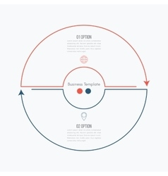 Thin line infographic element vector