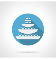 Tiered fountain round flat icon vector
