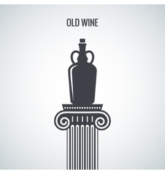 Vintage Wine Jug Design Background vector