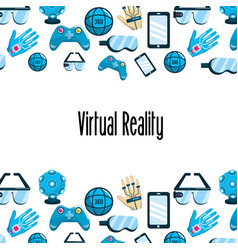 Virtual reality elements technology background vector