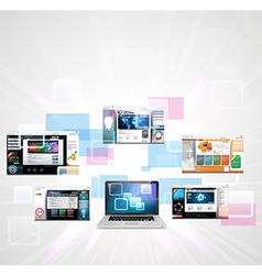 Web page design concept vector image