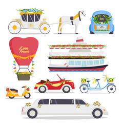 wedding fashion transportation traditional auto vector image
