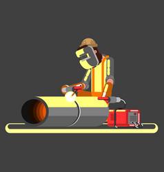 Welder in work vector