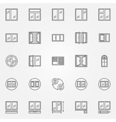 Window icons vector image