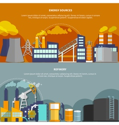 with energy sources and refinery vector image