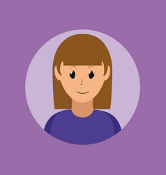 woman smiling profile vector image