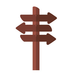 Wooden signal with arrows vector