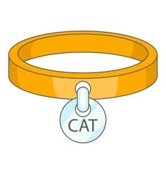 Cat collar icon cartoon style vector image vector image