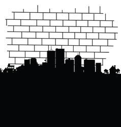 city in black vector image