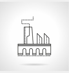 factory flat line icon vector image vector image