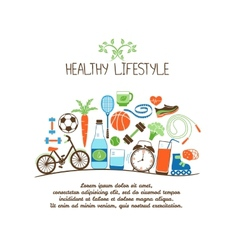 healthy lifestyles vector image vector image