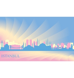 Istanbul city skyline vector image vector image