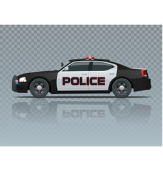 police car with rooftop flashing lights a vector image