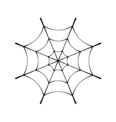 Spider web clip cobweb vector image