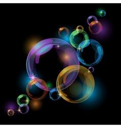 Black bubble background vector image vector image