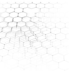 chemistry 3d pattern hexagonal molecule structure vector image