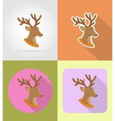 christmas and new year flat icons 10 vector image vector image