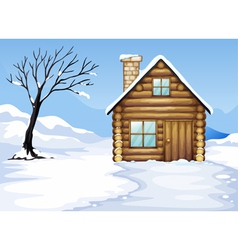 landcape and house vector image vector image