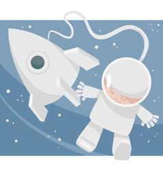 little spaceman cartoon vector image