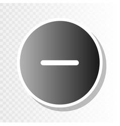 negative symbol minus sign vector image