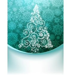 Christmas Tree Greeting Card EPS 8 vector image