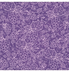 Lace grape vines seamless pattern background vector image