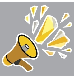 Megaphone icon design vector image