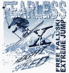 Ski Free Fall vector image vector image