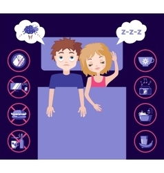 Sleep and insomnia concept vector image