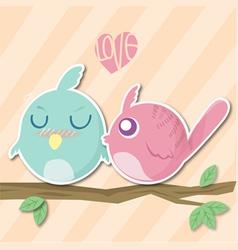 bird valentine vector image vector image