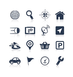 Navigation apps icons vector image vector image