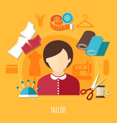 tailor concept vector image vector image