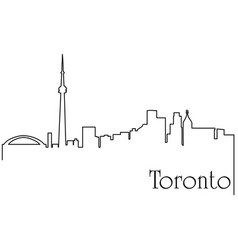 toronto city one line drawing vector image