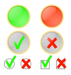 Voting for and against vector image