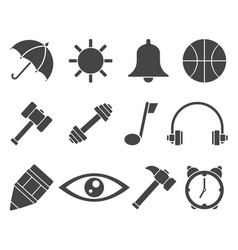 web icon set symbol vector image vector image
