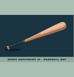 baseball bat icon game equipment professional vector image