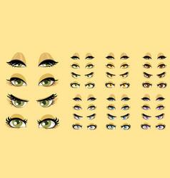 Beautiful women eyes 1 vector image