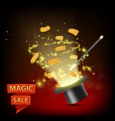 big sale magic hat discounted price tags vector image