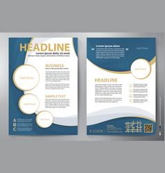 Brochure design a4 template vector