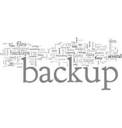 Can you restore data from your backup vector