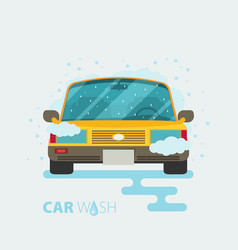 Car wash flat design vector
