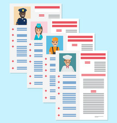Career information leaflet flat concept vector
