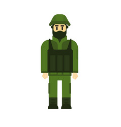 cartoon character - army soldier set vector image