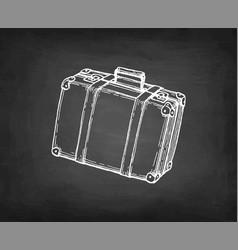 chalk sketch suitcase vector image
