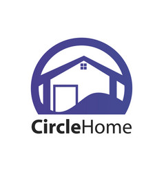 circle home logo concept design symbol graphic vector image
