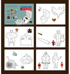 Crazy Coloring book for adults for coloring in li vector image
