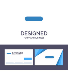 Creative business card and logo template delete vector