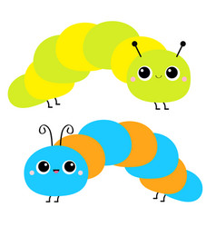 cute crawling catapillar bug caterpillar insect vector image