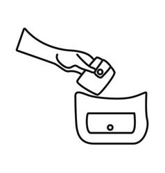 Design pocket and theft symbol vector
