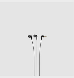 earphones vacuum vector image